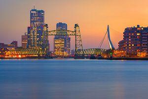 Rotterdam at sunset colours