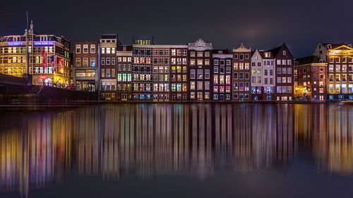 Damrak Reflectie Amsterdam