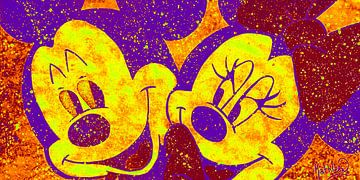 "Mickey und Minnie Mouse ""Liebe in Farbe"