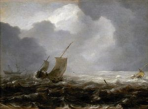 A Fishing Pink on a Windy Day, Jan Porcellis