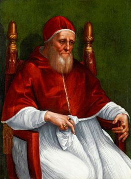 Porträt von Papst Julius II., Rafaël