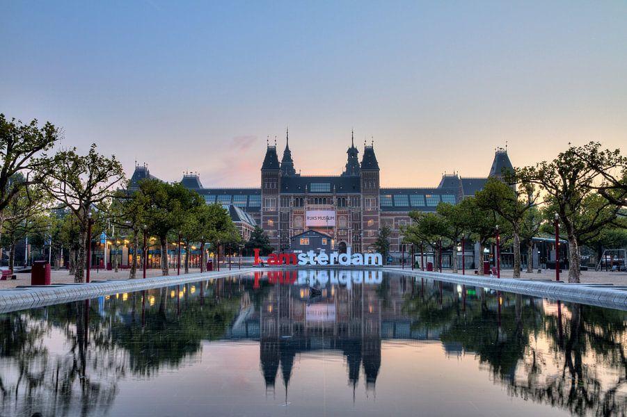 Rijksmuseum reflectie van Dennis van de Water