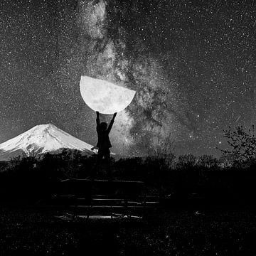 nach dem Mond greifen von Jos Burger