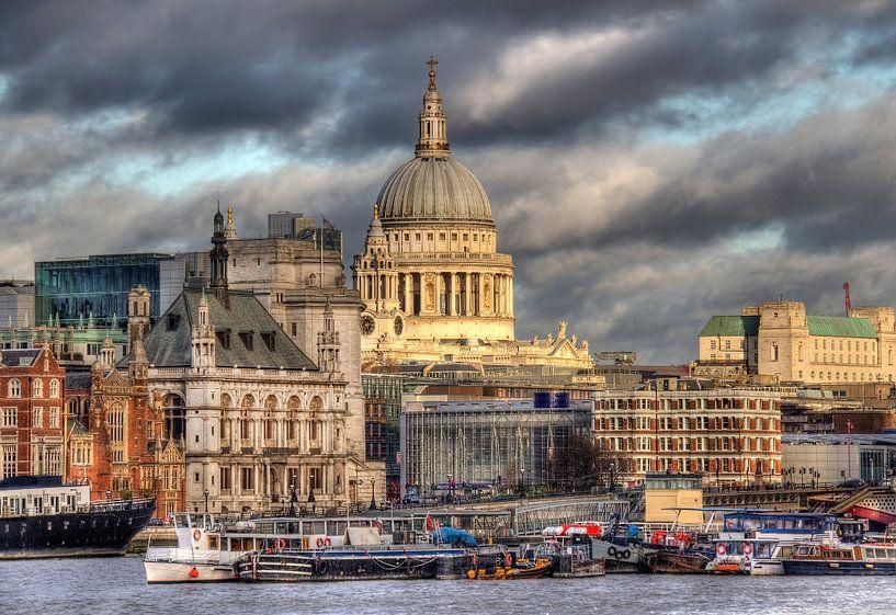 Saint Pauls kathedraal in London  van Jan Kranendonk