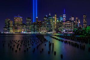 New York City Skyline - 9/11 Tribute in Light