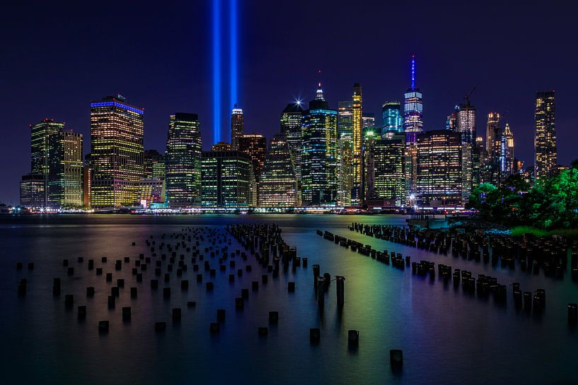 New York City Skyline - 9/11 Tribute in Light van Tux Photography