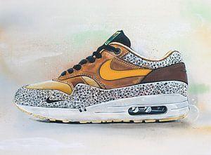 Nike air max 1 atmos safari schilderij. van Jos Hoppenbrouwers