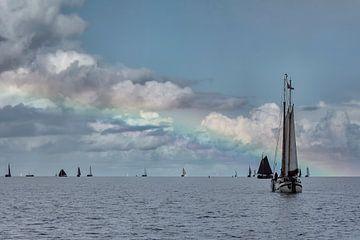 Regenbogen über dem Wasser von Peter Bartelings Photography