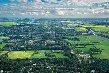 Haren vanuit de lucht von Iconisch Groningen