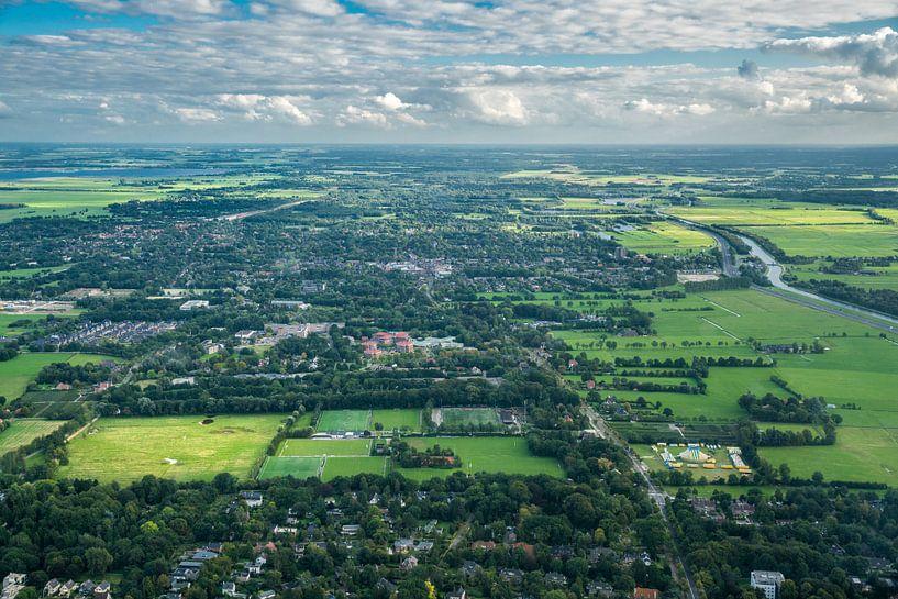 Haren vanuit de lucht van Iconisch Groningen