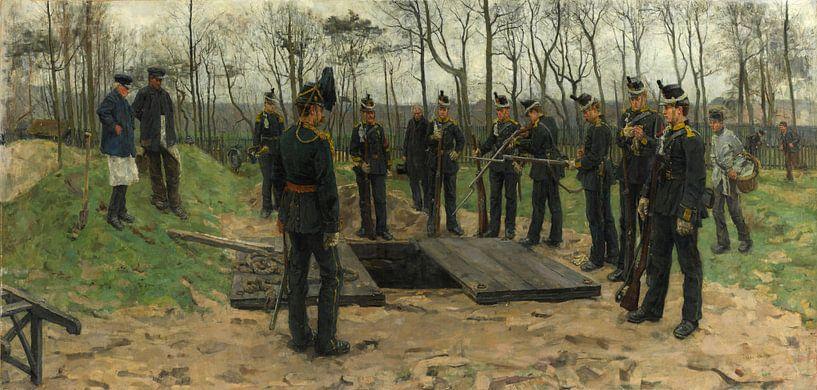 Militärbegräbnis, Isaac Israëls von Meesterlijcke Meesters
