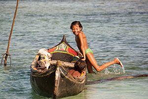 Waterpret op de San Blas eilanden