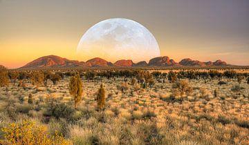 Moon over the Olga's - Australia von Arthur de Rijke
