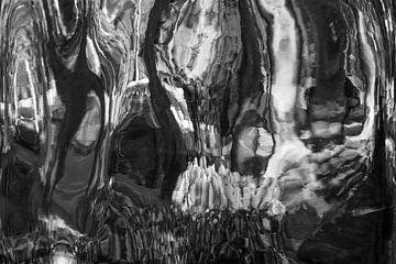 Schwarz/Weiss Abstrakt 3 von Alice Berkien-van Mil