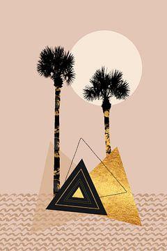 Klein palmeiland van Melanie Viola