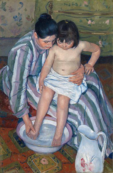 Mary Cassatt. The Child's Bath van 1000 Schilderijen