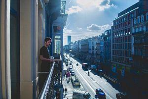 Het balkon van