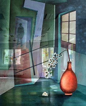 Lumière dans la pièce sur Gertrud Scheffler
