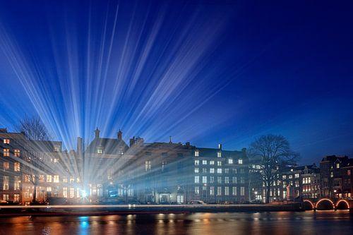 lichtstralen langs de Amstel van gaps photography