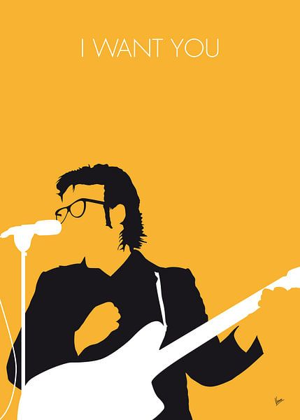 No067 MY ELVIS COSTELLO Minimal Music poster van Chungkong Art