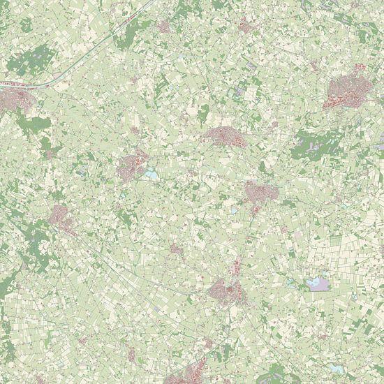 Kaart vanBerkelland van Rebel Ontwerp