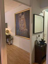 Kundenfoto: Der Kuss - Gustav Klimt von Rebel Ontwerp
