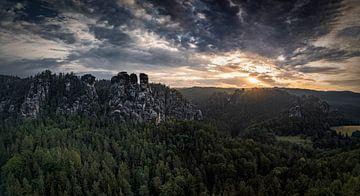 Morgenstimmung Elbsandsteingebirge von Sebastian Witt