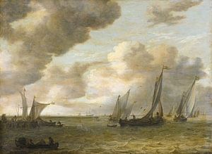 Mündung mit Segelbooten, Jan van Goyen