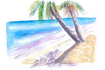 Schatten in karibischer Sonne am weißen Strand von Markus Bleichner