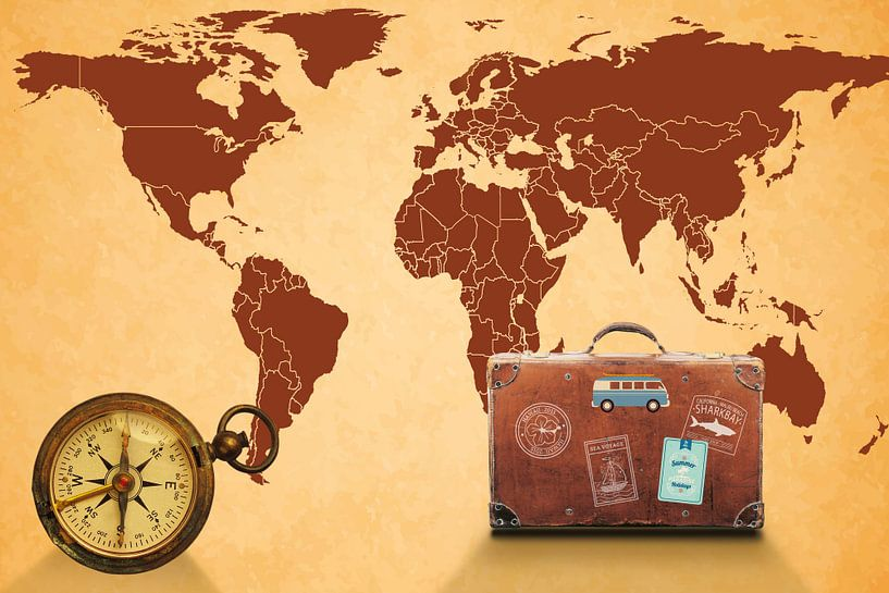 Reizen over de wereld van World Maps
