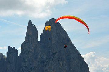 paragliding seiser alm dolomieten van Erwin Reinders