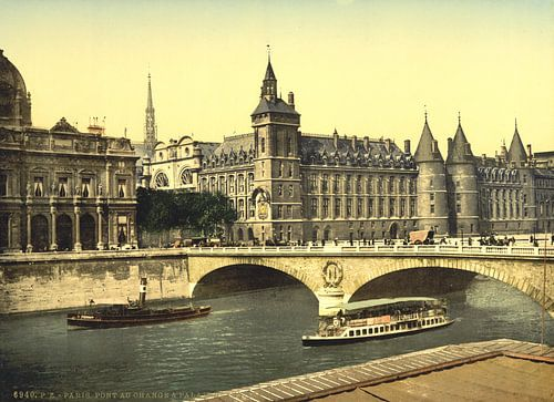 Palais de Justice and bridge to exchange, Paris van