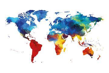 Weltkarte von Felix Brönnimann