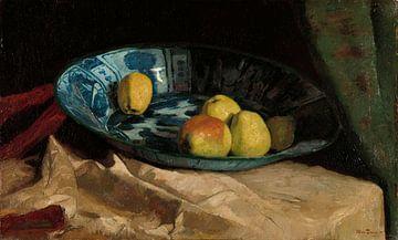 Stilleven met appels in een Delfts blauwe kom, Willem de Zwart