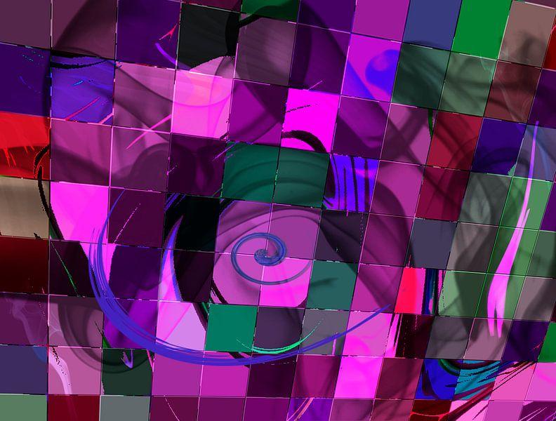 Purple tiles van Rosi Lorz