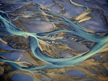 Rivierdelta Texturen van IJsland #5 van Keith Wilson Photography