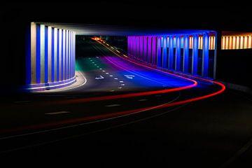 Farbiger Tunnel Zutphen von Alexander van der Zel