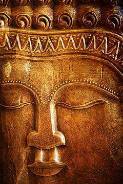 Boeddha close-up India stijl van Carin Klabbers