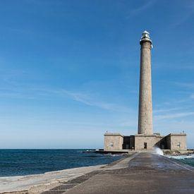Robuster Leuchtturm von Gatteville in der Normandie von Patrick Verhoef