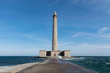 Robuster Leuchtturm von Gatteville in der Normandie