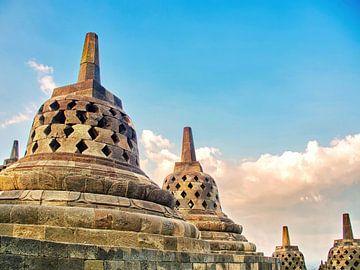 Borobudur: Stupa's van Eduard Lamping