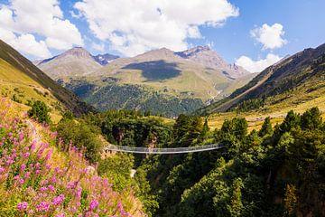 Hängebrücke im Ötztal von