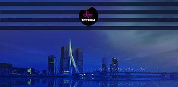 Love Rotterdam by night  van Nicole Erens