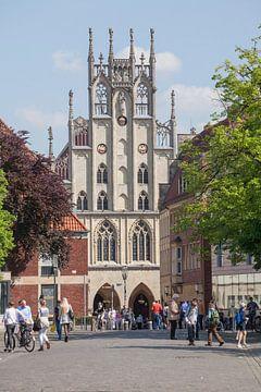 Stadhuiszicht vanaf het Domplein , Münster in Westfalen, Nordrhein-Westfalen, Duitsland, Europa van Torsten Krüger