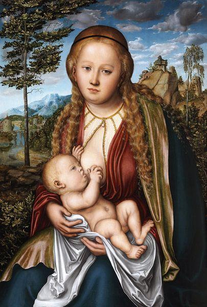 Lucas Cranach der Ältere.Madonna mit Kind von 1000 Schilderijen