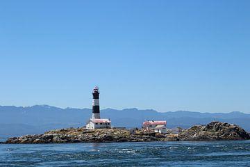 Lighthouse bij Victoria Canada van Elisabeth Eisbach