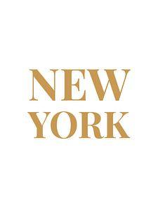 NEW YORK (in wit/goud) van MarcoZoutmanDesign