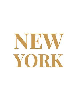 NEW YORK (in wit/goud)