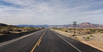 Einsame Straße von Toon van den Einde