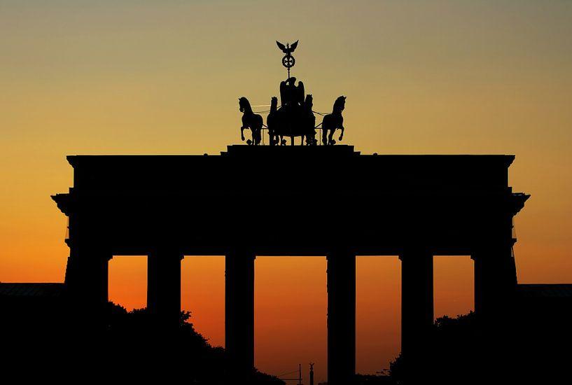 Brandenburgse Poort Zonsondergang van Frank Herrmann